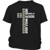 NFL – All I Need Today Is A Little Bit Of Green Bay Packers And A Whole Lot Of Jesus Football Shirt-T-shirt-District Youth Shirt-Black-XS-Itees Global