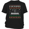 NFL - All I Want For Christmas Is Oakland Raiders Football Shirts-T-shirt-District Youth Shirt-Black-XS-Itees Global