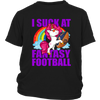 NFL – Chicago Bears Unicorn I Suck At Fantasy Football NFL Shirts-T-shirt-District Youth Shirt-Black-XS-PopsSpot