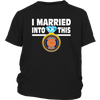 NFL - I Married Into This Chicago Bears Football Sweatshirt-T-shirt-District Youth Shirt-Black-XS-PopsSpot