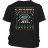 NFL - All I Want For Christmas Is New York Jets Football Shirts-T-shirt-District Youth Shirt-Black-XS-Itees Global