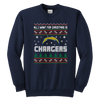 NFL - All I Want For Christmas Is San Diego Chargers Football Shirts-T-shirt-Youth Crewneck Sweatshirt-Navy-XS-Itees Global