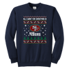 NFL - All I Want For Christmas Is San Francisco 49ers Football Shirts-T-shirt-Youth Crewneck Sweatshirt-Navy-XS-PopsSpot
