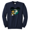 NFL – Green Bay Packers Mickey Mouse Football Shirt-T-shirt-Youth Crewneck Sweatshirt-Navy-XS-Itees Global