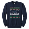 NFL - All I Want For Christmas Is Dallas Cowboys Football Shirts-T-shirt-Youth Crewneck Sweatshirt-Navy-XS-PopsSpot