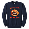 NFL - Cincinnati Bengals Pumpkin Football Shirt-T-shirt-Youth Crewneck Sweatshirt-Navy-XS-Itees Global