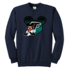 NFL – Atlanta Falcons Mickey Mouse Football Shirt-T-shirt-Youth Crewneck Sweatshirt-Navy-XS-PopsSpot