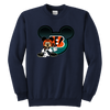 NFL – Cincinnati Bengals Mickey Mouse Football Shirt-T-shirt-Youth Crewneck Sweatshirt-Navy-XS-PopsSpot