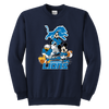NFL - Detroit Lions Mickey Mouse Donald Duck Goofy Football Shirt-T-shirt-Youth Crewneck Sweatshirt-Navy-XS-PopsSpot