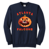 NFL - Atlanta Falcons Pumpkin Football Shirt-T-shirt-Youth Crewneck Sweatshirt-Navy-XS-Itees Global
