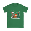 NFL – Denver Broncos Snoopy The Peanuts Movie Christmas Football Super Bowl Shirt-T-shirt-Gildan Womens T-Shirt-Irish Green-S-PopsSpot