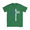NFL – All I Need Today Is A Little Bit Of Indianapolis Colts And A Whole Lot Of Jesus Football Shirts-T-shirt-Gildan Womens T-Shirt-Irish Green-S-Itees Global