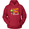 NFL – Atlanta Falcons Makes Me Happy You Not So Much The Grinch Football Sweatshirt-T-shirt-Unisex Hoodie-Red-S-PopsSpot