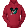 NFL – Atlanta Falcons Mickey Mouse Football Shirt-T-shirt-Unisex Hoodie-Red-S-PopsSpot