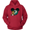 NFL – Green Bay Packers Mickey Mouse Football Shirt-T-shirt-Unisex Hoodie-Red-S-Itees Global
