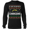 NFL - All I Want For Christmas Is San Diego Chargers Football Shirts-T-shirt-Long Sleeve Shirt-Black-S-Itees Global