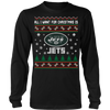 NFL - All I Want For Christmas Is New York Jets Football Shirts-T-shirt-Long Sleeve Shirt-Black-S-Itees Global