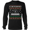 NFL - All I Want For Christmas Is Oakland Raiders Football Shirts-T-shirt-Long Sleeve Shirt-Black-S-Itees Global