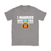 NFL - I Married Into This Chicago Bears Football Sweatshirt-T-shirt-Gildan Womens T-Shirt-Sport Grey-S-PopsSpot