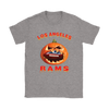 NFL – Halloween Pumpkin Los Angeles Rams Football NFL Shirts-T-shirt-Gildan Womens T-Shirt-Sport Grey-S-Itees Global