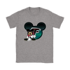 NFL – Atlanta Falcons Mickey Mouse Football Shirts-T-shirt-Gildan Womens T-Shirt-Sport Grey-S-PopsSpot