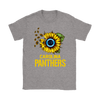 NFL - Carolina Panthers Sunflower Football NFL Shirts-T-shirt-Gildan Womens T-Shirt-Sport Grey-S-Itees Global