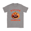 NFL – Halloween Pumpkin Dallas Cowboys Football NFL Shirts-T-shirt-Gildan Womens T-Shirt-Sport Grey-S-Itees Global