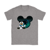 NFL – Carolina Panthers Mickey Mouse Football Shirts-T-shirt-Gildan Womens T-Shirt-Sport Grey-S-Itees Global
