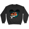 NFL – Cincinnati Bengals Mickey Mouse Football Shirt-T-shirt-Crewneck Sweatshirt-Black-S-PopsSpot