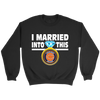 NFL - I Married Into This Chicago Bears Football Sweatshirt-T-shirt-Crewneck Sweatshirt-Black-S-PopsSpot