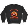 NFL - Atlanta Falcons Pumpkin Football Shirt-T-shirt-Crewneck Sweatshirt-Black-S-Itees Global
