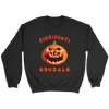 NFL - Cincinnati Bengals Pumpkin Football Shirt-T-shirt-Crewneck Sweatshirt-Black-S-Itees Global