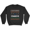 NFL - All I Want For Christmas Is Dallas Cowboys Football Shirts-T-shirt-Crewneck Sweatshirt-Black-S-PopsSpot