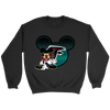 NFL – Atlanta Falcons Mickey Mouse Football Shirt-T-shirt-Crewneck Sweatshirt-Black-S-PopsSpot