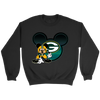 NFL – Green Bay Packers Mickey Mouse Football Shirt-T-shirt-Crewneck Sweatshirt-Black-S-Itees Global