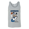 NFL – Funny Dallas Cowboys Mickey Mouse Super Bowl Football TShirt-T-shirt-Canvas Unisex Tank-Athletic Grey-S-PopsSpot
