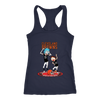 NFL - Cleveland Browns Rick And Morty Football NFL Shirts-T-shirt-Next Level Racerback Tank-Navy-XS-PopsSpot