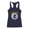 NFL – Awesome Baltimore Ravens Football Shirts-T-shirt-Next Level Racerback Tank-Navy-XS-PopsSpot