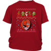 NFL - Cleveland Browns Christmas Grateful Dead Jingle Bears Football Ugly Sweatshirt-T-shirt-District Youth Shirt-Red-XS-Itees Global