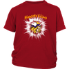 NFL – Awesome Minnesota Vikings Football Shirts-T-shirt-District Youth Shirt-Red-XS-PopsSpot