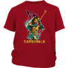 NFL – Arizona Cardinals Aquaman Football Shirts-T-shirt-District Youth Shirt-Red-XS-PopsSpot