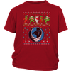 NFL - Carolina Panthers Christmas Grateful Dead Jingle Bears Football Ugly Sweatshirt-T-shirt-District Youth Shirt-Red-XS-PopsSpot