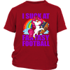 NFL – Chicago Bears Unicorn I Suck At Fantasy Football NFL Shirts-T-shirt-District Youth Shirt-Red-XS-PopsSpot