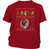 NFL - Baltimore Ravens Christmas Grateful Dead Jingle Bears Football Ugly Sweatshirt-T-shirt-District Youth Shirt-Red-XS-Itees Global