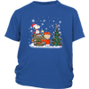 NFL – Denver Broncos Snoopy The Peanuts Movie Christmas Football Super Bowl Shirt-T-shirt-District Youth Shirt-Royal Blue-XS-PopsSpot