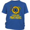 NFL - Carolina Panthers Sunflower Football NFL Shirts-T-shirt-District Youth Shirt-Royal Blue-XS-Itees Global
