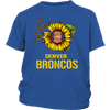 NFL - Denver Broncos Sunflower Football NFL Shirts-T-shirt-District Youth Shirt-Royal Blue-XS-Itees Global