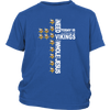 NFL – All I Need Today Is A Little Bit Of Minnesota Vikings And A Whole Lot Of Jesus Football Shirts-T-shirt-District Youth Shirt-Royal Blue-XS-PopsSpot