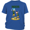 NFL - Green Bay Packers Rick And Morty Football NFL Shirts-T-shirt-District Youth Shirt-Royal Blue-XS-PopsSpot