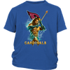 NFL – Arizona Cardinals Aquaman Football Shirts-T-shirt-District Youth Shirt-Royal Blue-XS-PopsSpot